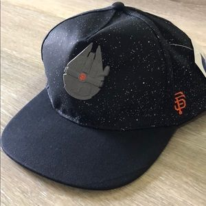 NWT SF Giants & Star Wars adjustable back blk Hat